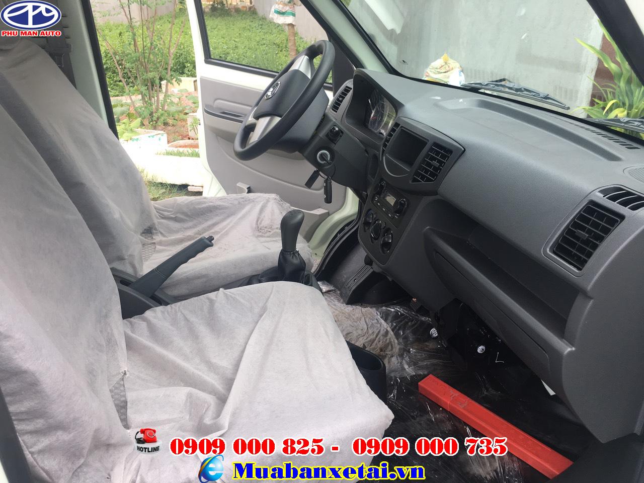 Nội thất xe tải Kenbo 995kg thùng lửng