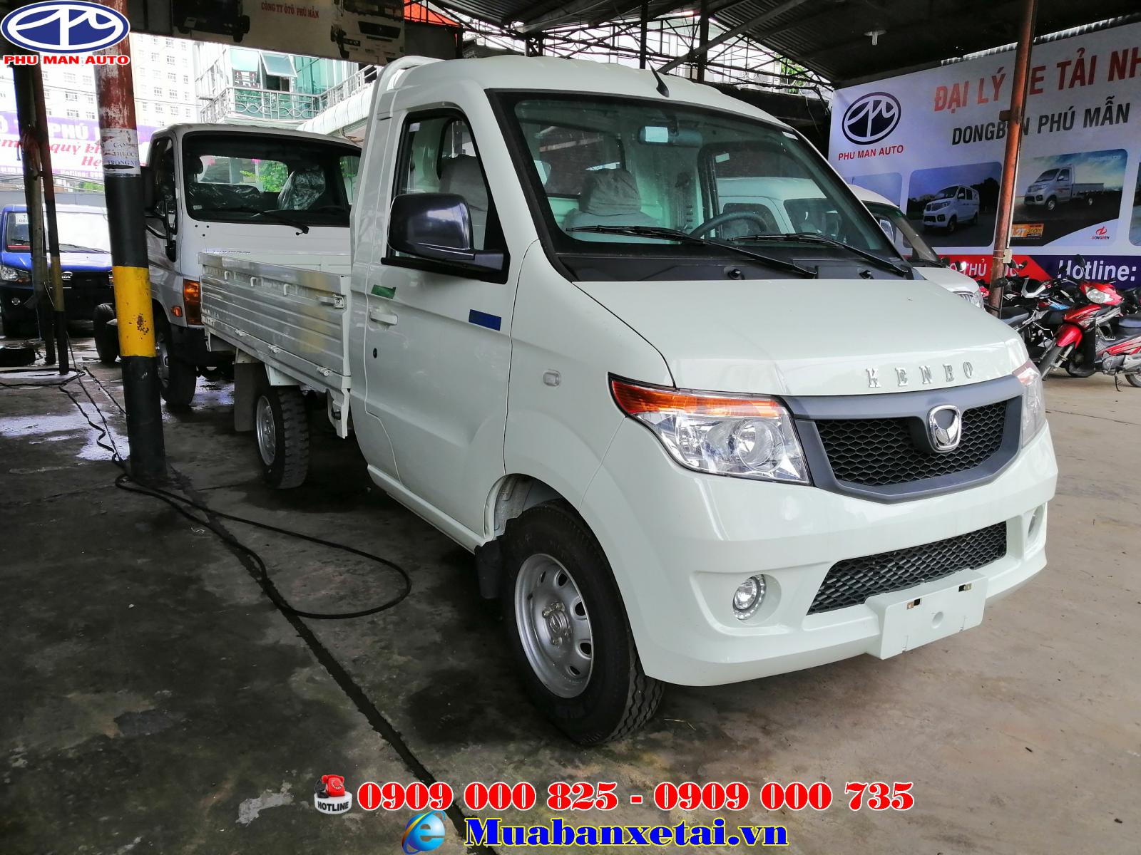Xe tải Kenbo 995kg thùng lửng có thùng dài hơn 2.6 m