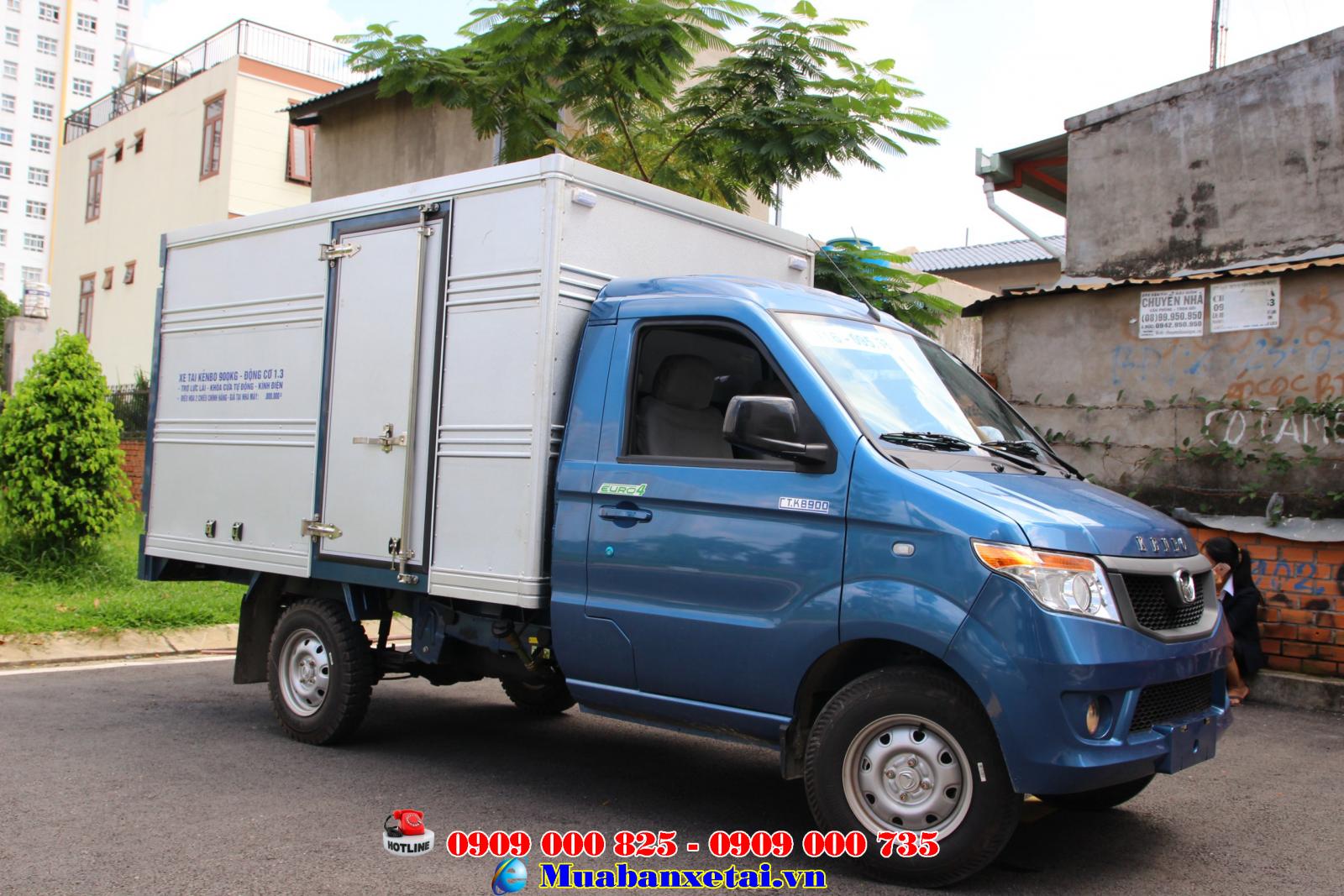 Xe tải Kenbo 900kg thùng kín