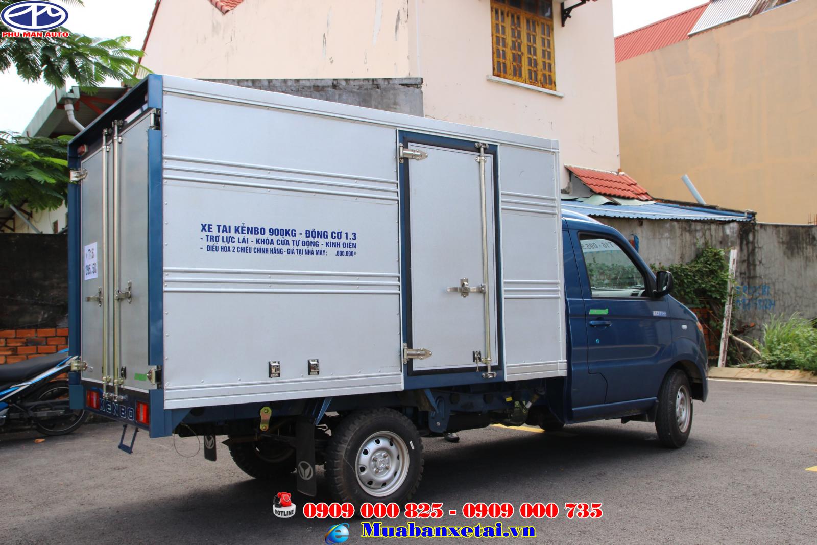 Thùng xe tải Kenbo 900kg thùng kín