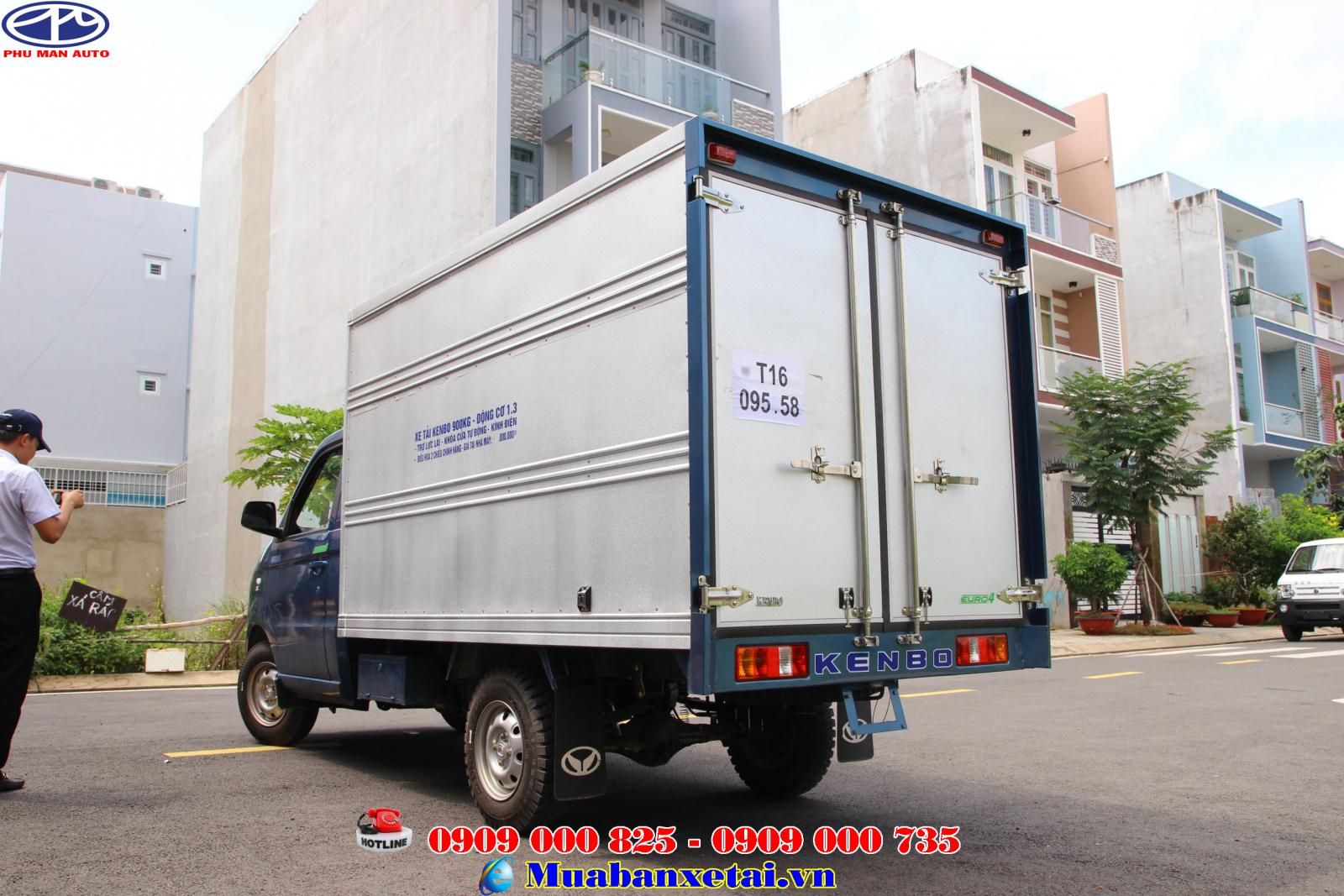 Ngoại thất xe tải Kenbo 900kg thùng kín