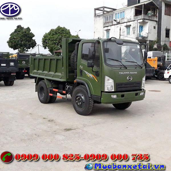 Xe tải ben Trường Giang 5.7 tấn tự đổ