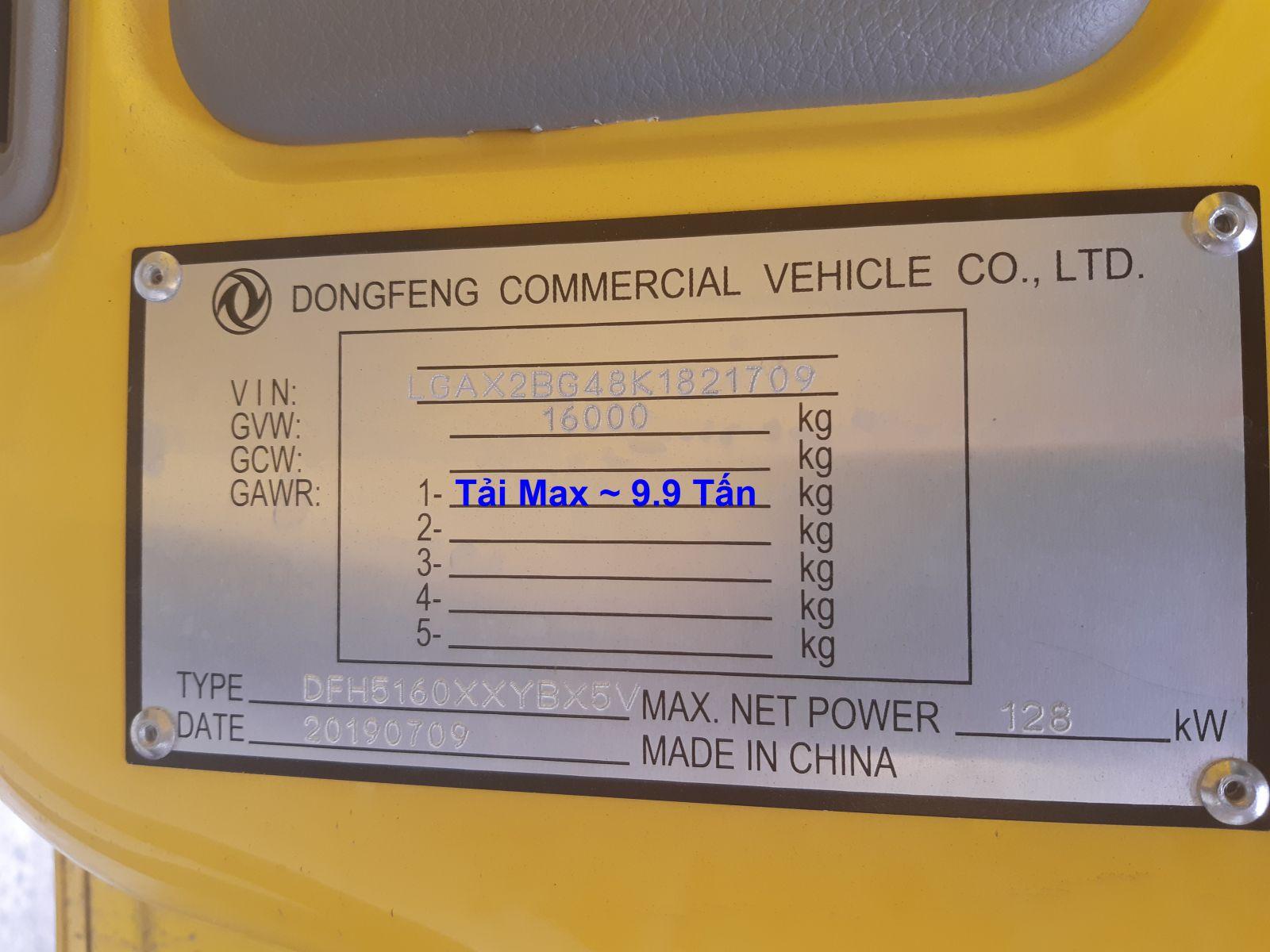 xe tai dongfeng b180 9.15 tan